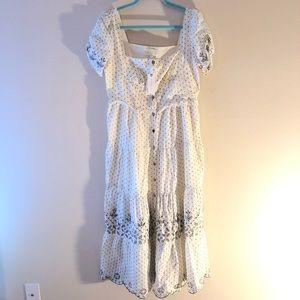Rahi Cali Francés Eyelet Midi Dress